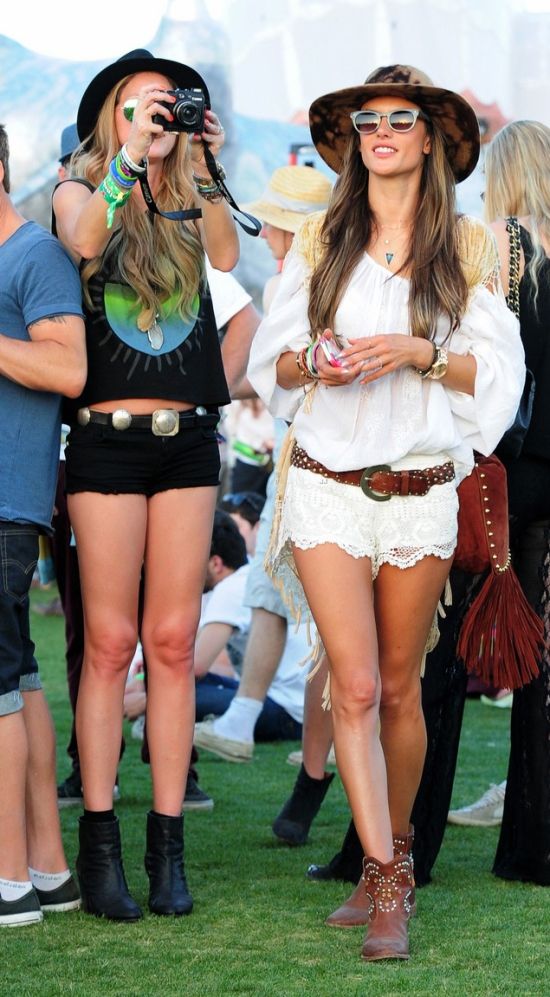 Alessandra Ambroiso at Coachella wearing Blake by Benjamin.
