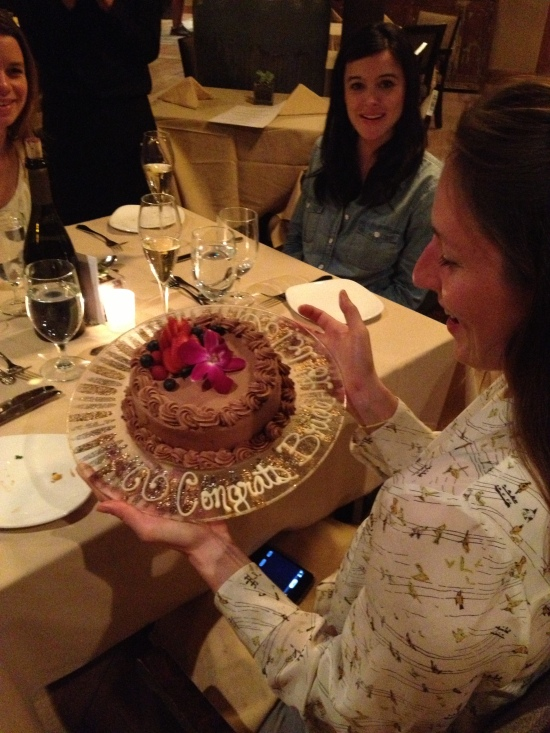 YAY Mer! (This cake was prob, like, 50 cals).