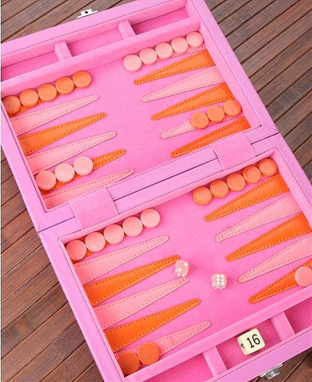 My sister has this preppy travel backgammon board which we bring to the beach