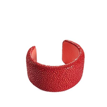 Peach Cuff Bracelet- Shagreen