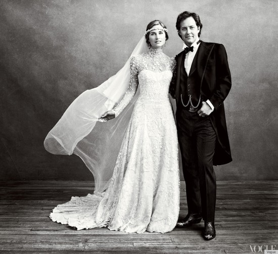 Lauren Bush's wedding dress custom-designed by Ralph Lauren.