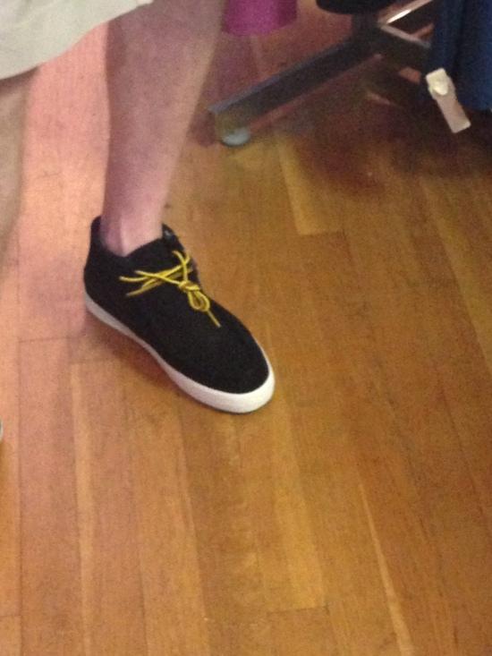 My dad shoe shopping.