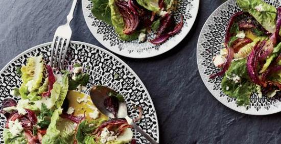 little-gem-lettuce-with-roasted-beets-and-feta-dressing