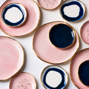 rose-and-gold-dessert-plates-rose-gold-splatter-ring-dish-navy-swirl-ring-dish_1024x1024