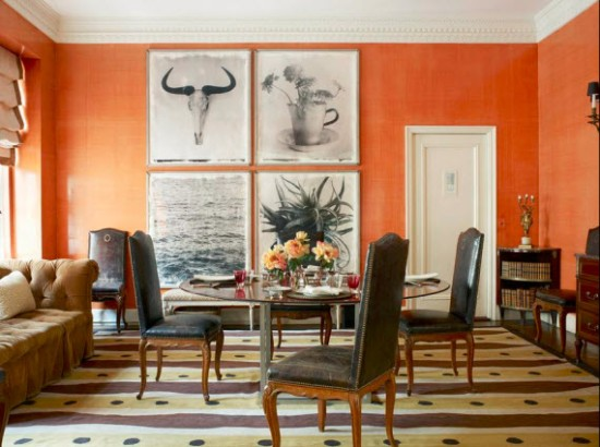 Tom-Scheerer-Decorates-orange-dining-room