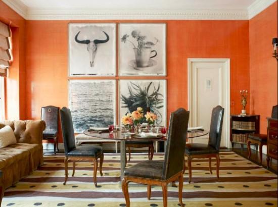 Tom-Scheerer-Decorates-orange-dining-room